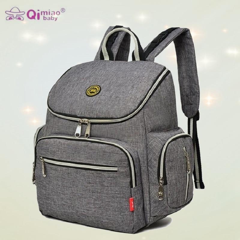 QIMIAOBABY sac à langer sac à dos solide bébé sac poussette sac organisateur étanche grande capacité Nappy sac 6 couleurs livraison gratuite