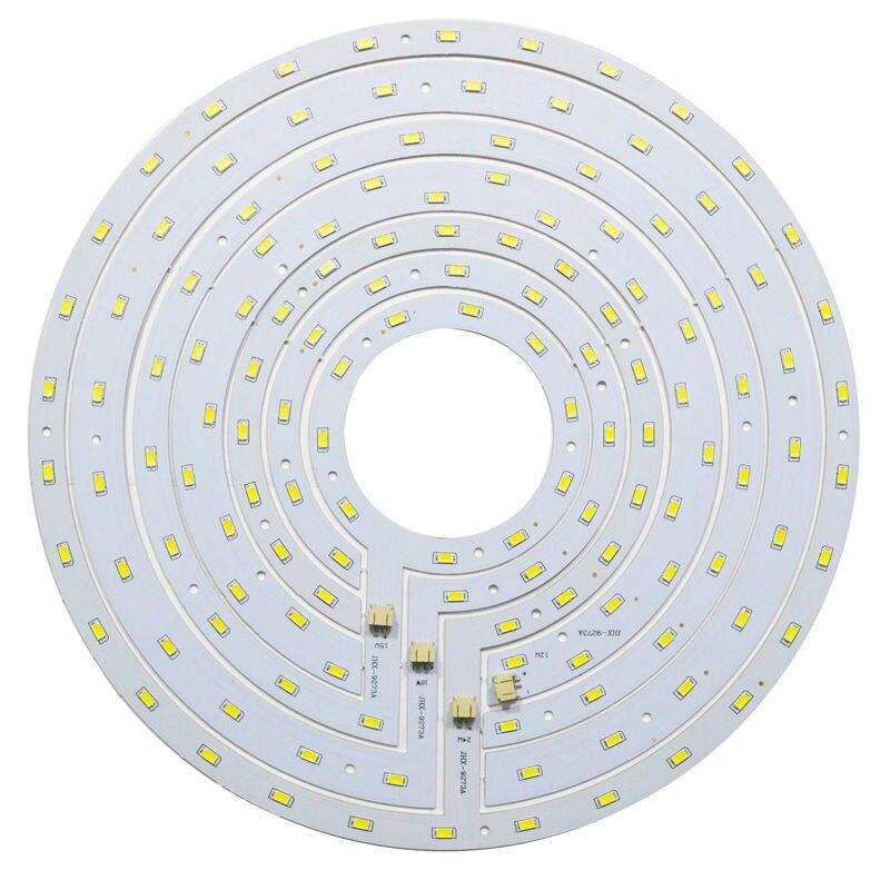 Placa Do Painel LEVOU rodada Luz de Teto 12 W 15 W 18 W 24 W SMD 5730 Anel Magnético Placa Lâmpada Branco/Branco Quente Com Ímã chave de Fenda