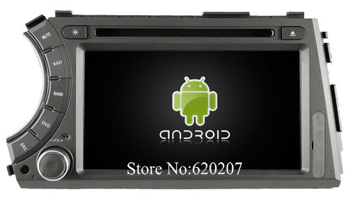 S160 Android 4 4 4 CAR DVD player FOR Ssangyong Actyon Kyron car audio stereo Multimedia