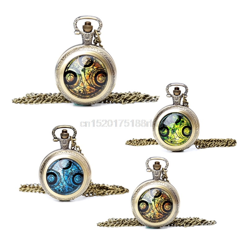 Pocket Watch For Doctor Who Theme Vintage Man Women Pendant Chain Antique Gifts D14 drop shipping