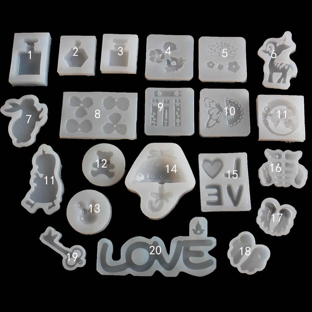 1 قطعة سنوفلاور على شكل السائل سيليكون UV الراتنج قالب لصنع الحلي أقراط إكسسوارات الشعر أدوات مجوهرات