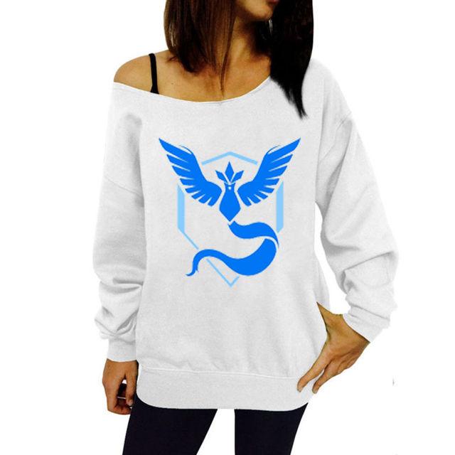 Pokemon GO Oblique Shoulder Sweatshirts