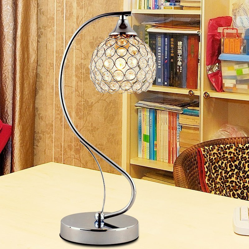 adjustable light special desk lamp Crystal decorative table lamp warm bed bedroom living room modern simple fashion SJ51 цена