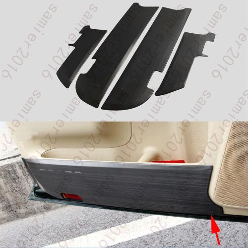 4x garniture de couvercle Anti-coup de pied de porte intérieure en acier inoxydable pour Toyota Prado FJ150 10-2016