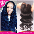100% Virgin Hair Peruvian Body Wave Lace Closure With Bleached Knots 3.5*4 Middle Part Elva Hair Swiss Lace Front Closure Pieces