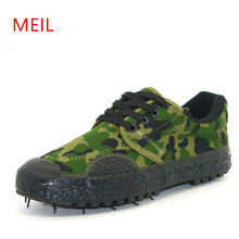 MEIL shoes men outdoor climb work ankle zapatos hombre sneakers military camouflage canvas