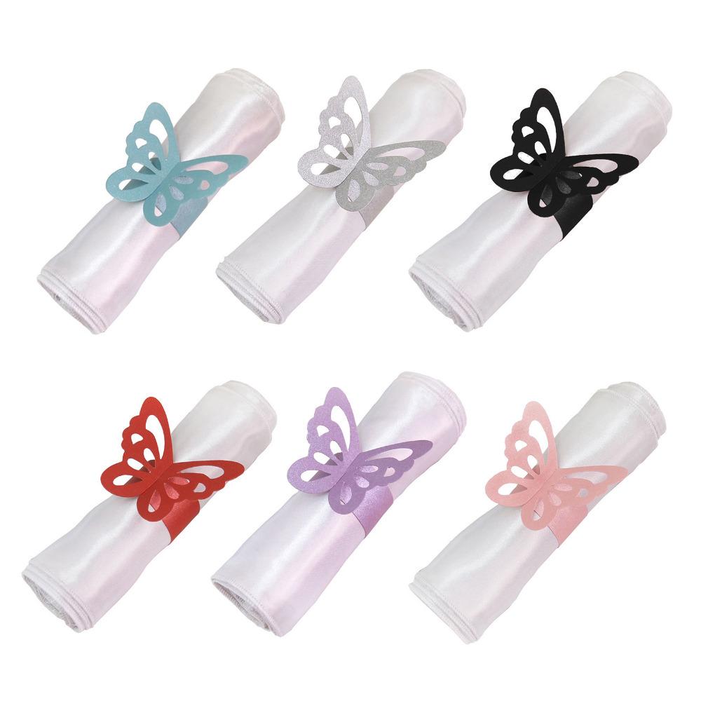 unids mariposa de papel para el banquete de boda decoracin de la mariposa anillo