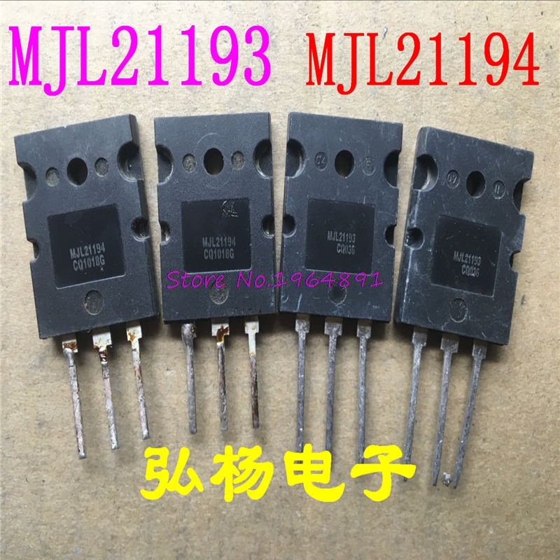 10pcs/lot MJL21193 MJL21194 (5 PCS MJL21193 + 5 Pcs MJL21194) TO-3PL