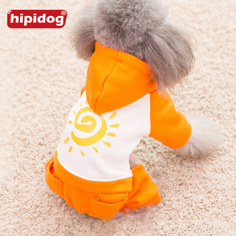 Hipidog Dog Cartoon Colthes Hoodies Warm Winter Dogs Clothes Cotton Cute Pet Jacket Autumn Jumpsuit Clothing For Chihuahua Teddy