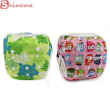 16 colors happy waterproof baby swim diaper cover pant boy girl swimwear children diapers washable reusable cloth nappies