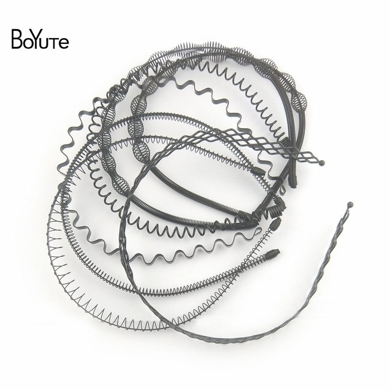 BoYuTe Retail 1 Piece Metal Black Hair Band Hairband New Style Black Color Metal Headband (15)