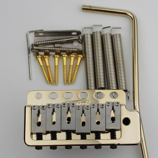 US $51 32 6% OFF|NEW Wilkinson WVP6 Gold TREMOLO BRIDGE Stainless Steel  Saddles+ Zinc Block Or Brass Block From Korea-in Guitar Parts & Accessories