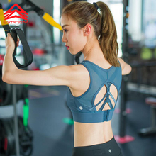 Syprem Women Adjustable High Impact Sports Bra Grils Wireless Padded Racerback Support Running Bra Gym Underwear,WY0328