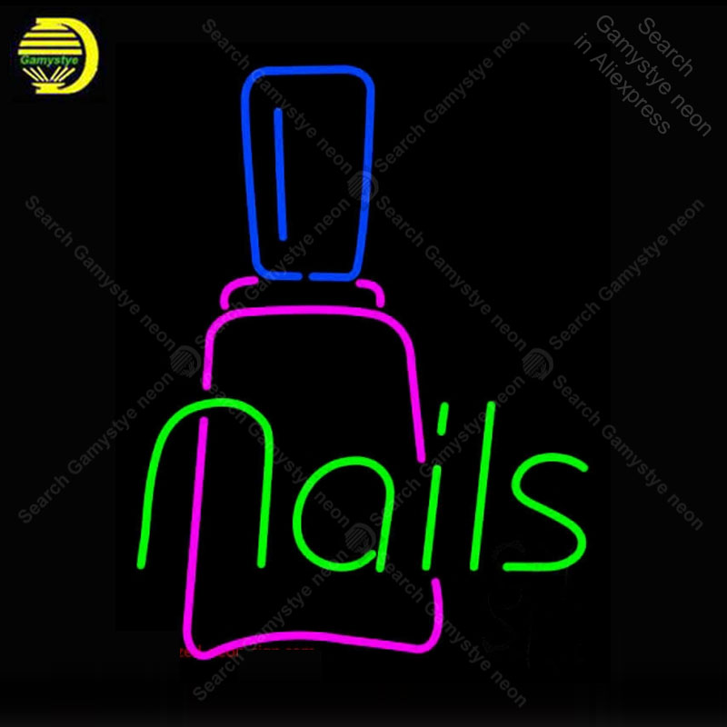 Tireless Neon Sign Nails With Bottle Neon Light For Store Display Neon Bulbs Decorative Shop Light Arcade Advertise Neon Light Custom Attractive Appearance Light Bulbs