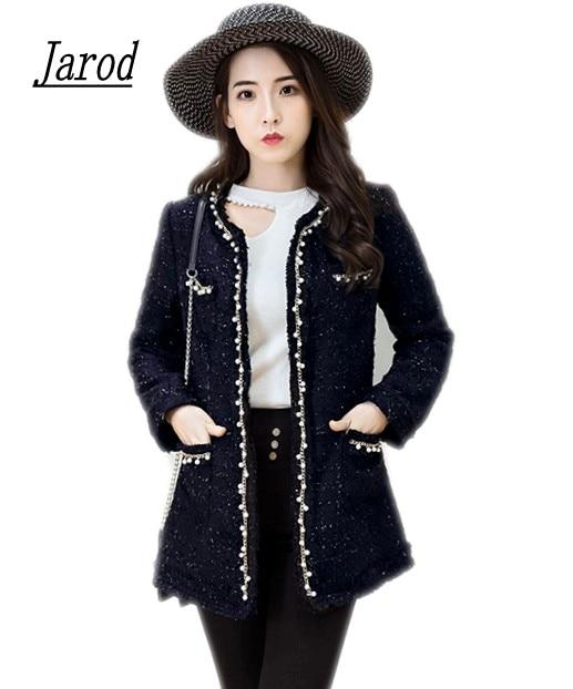 High Quality Tweed Jacket Ladies 2017 Runway Coat Spring Autumn Women Tweed Jackets Coats