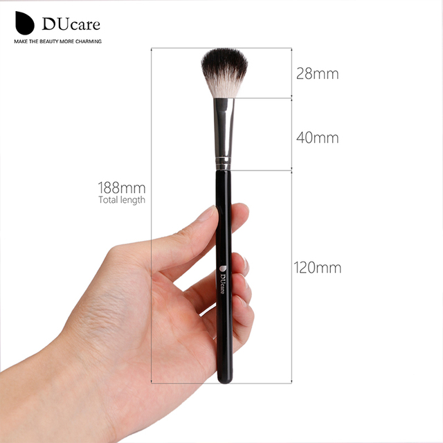 DUcare 1pcs Makeup Brushes Top Goat Hair Blender Contour Highlighter Make Up Brush 4