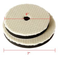 New 2Pcs 6inch 7inch 150mm/180mm Lambs Woolen Polishing Pad For Car Polisher Wash Detail Mirror Finish Thickness 18mm