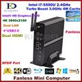 5500u windows10 mini pc htpc intel core i7 barato home theater pc 2 * lan + 2 * hdmi + spdif + usb3.0, hd 4 k, 300 m wifi, windows 10 pro