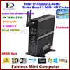 Windows10 Mini PC HTPC Intel Core I7 5500u Cheap Home Theatre PC 2 LAN 2 HDMI
