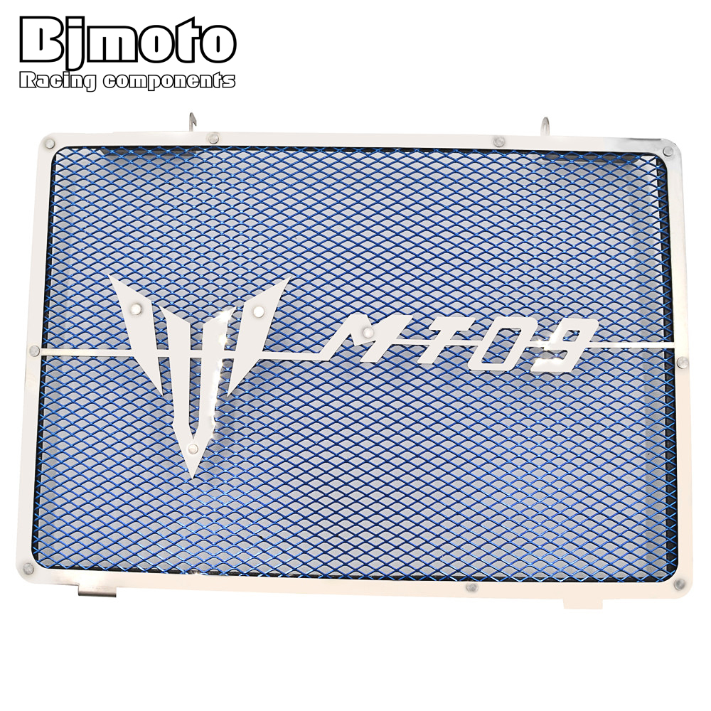 Bjmoto Motorcycle Parts Radiator Guard Cover Grill Guard Protector For Yamaha MT09 MT 09 MT 09 2014 2015 2016 2017