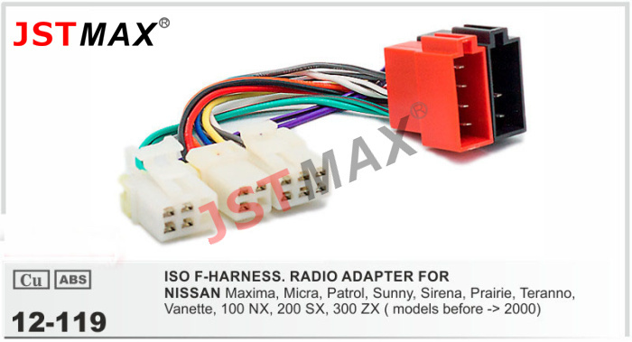 Jstmax 12 119 Car Dvd Iso Radio Plug For Nissan Stereo Wiring F Harness Wire Cable Adapter