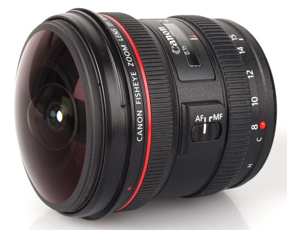 Сверхширокий зум объектив Canon EF 8 15 мм f/4L f4 L рыбий глаз USM