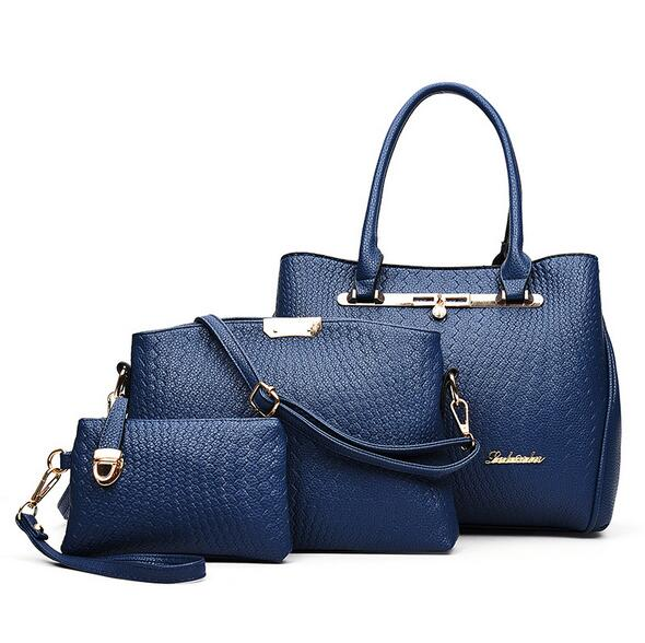 ФОТО WORTHFIND New 3 Pcs/ Set Women Handbags  Business Bag Women Totes Bag Ladies Designs Bag Handbag Messenger Bag
