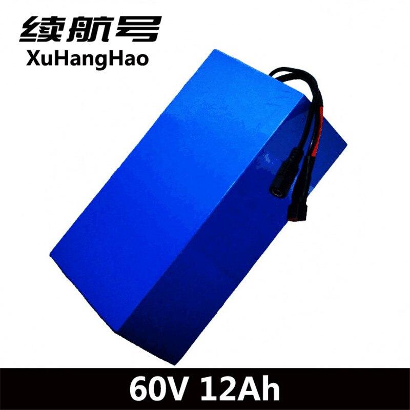 XuHangHao 60 v au lithium ion batterie 60 v 12ah 18650 cellules lithium batterie pack pour électrique moto planche à roulettes fauteuil roulant