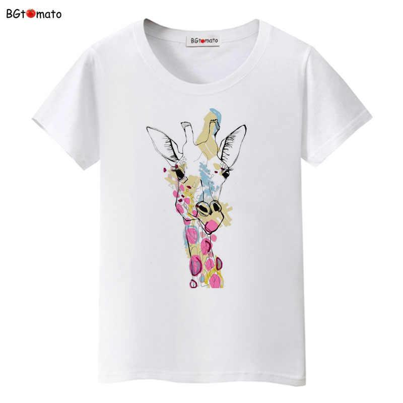 1c38071f BGtomato Super cute animal giraffe printing T-shirts Hot sale new fashion  shirt trend tops