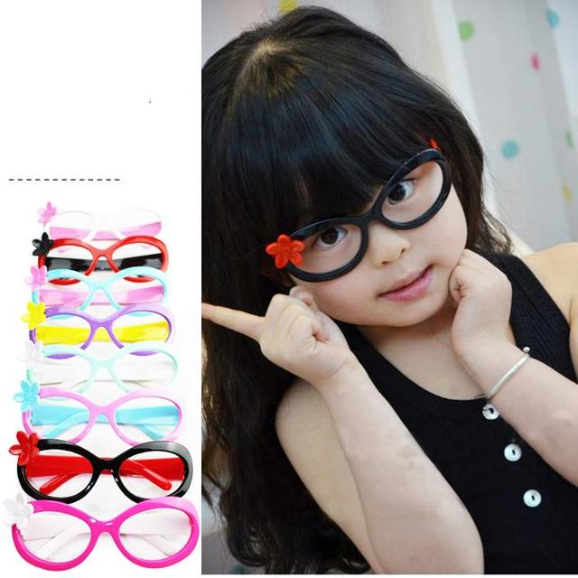 89c7d7a02ea 2015 Children eyewear cartoon frame glasses cute flower decoration plastic  frame baby kids glasses frames hot