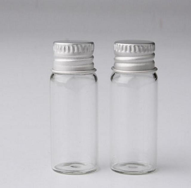 500 lot 4 ml r cipient en verre clair avec bouchon en aluminium petite bouteille en verre avec. Black Bedroom Furniture Sets. Home Design Ideas