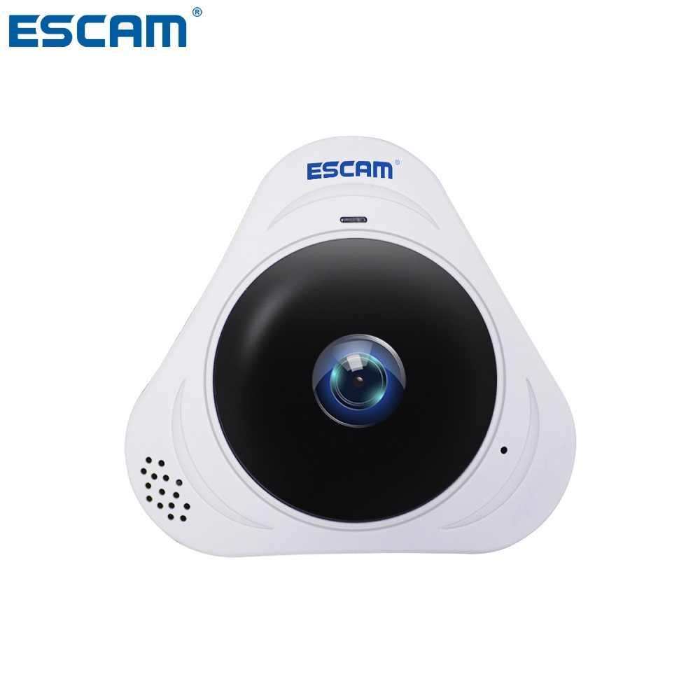 ESCAM Q8 HD 960P 1.3MP 360 градусов панорамный монитор рыбий глаз wifi инфракрасная камера с двухсторонним аудио/детектор движения Макс 128 г