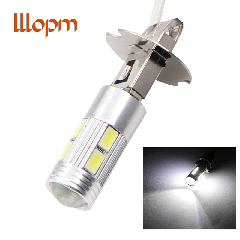 1pc Car Led H3 Led Canbus 5630 White 10LED Tail Headlamp Car Fog Light Running Light 12V Motorcycle Lamp Car Accessories