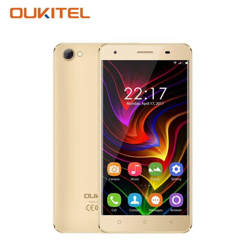 Oukitel c5 3g 5.0 pulgadas smartphone android 7.0 mtk6580 quad core 2 GB RAM 16