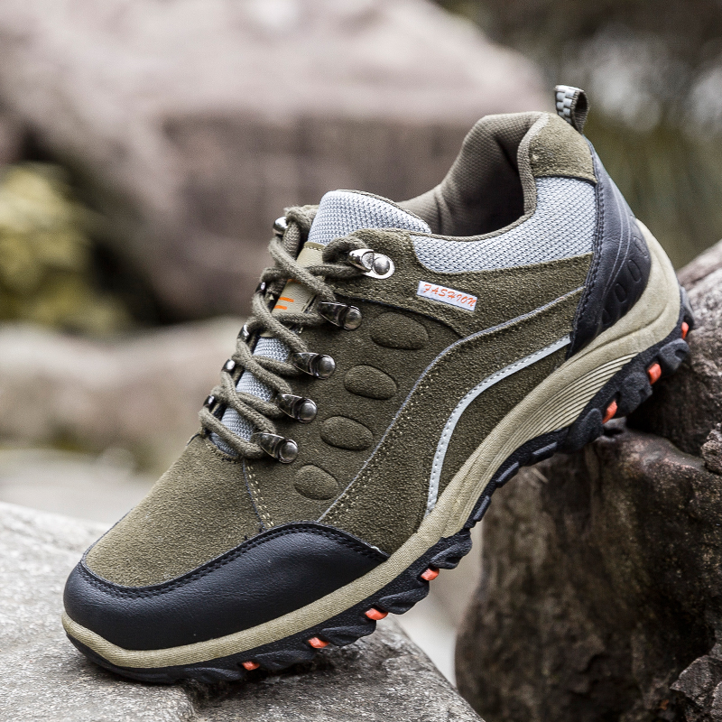 Rubber Sneakers Hiking-Shoes Spring Waterproof Men's New Comfortable Outdoor Autumn And