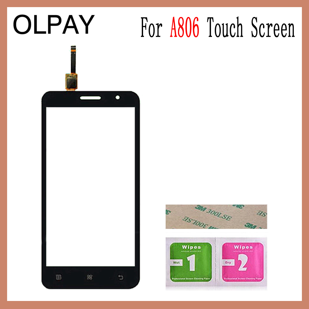 Image 4 - OLPAY 5.0'' For Lenovo A806 A806T A808 A8 Capacitive Touch Screen Touch Digitizer Panel Glass Tools Free Adhesive And Wipes-in Mobile Phone Touch Panel from Cellphones & Telecommunications