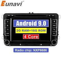 Eunavi 2 Din Android 8,1 dvd-плеер автомобиля аудио радио gps навигация для VW GOLF 6 Polo Bora JETTA B6 PASSAT Tiguan; Skoda OCTAVIA