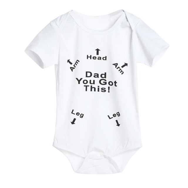 b04a41705 ARLONEET 2018 Infant Baby Boys Girls 0 2Years Letter Print Romper ...