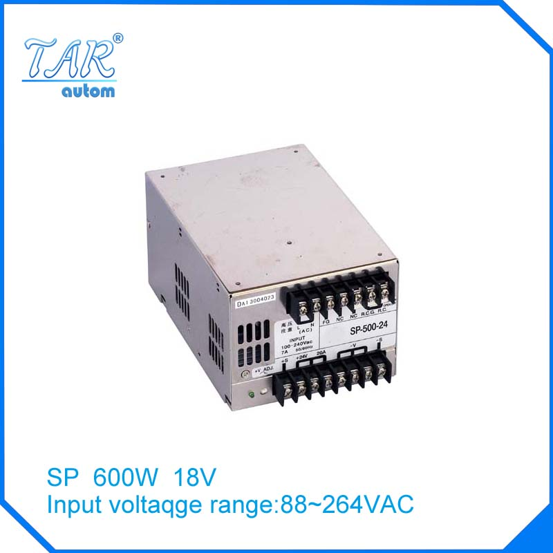 New arrival high quality 18V 40A 600W Switching Power Supply Driver for LED Strip AC 100-240V Input to DC 18V free shipping hot 12v 50a 600w 100 264v electronic transformer high quality safy led current driver for led strip 3528 5050 power supply