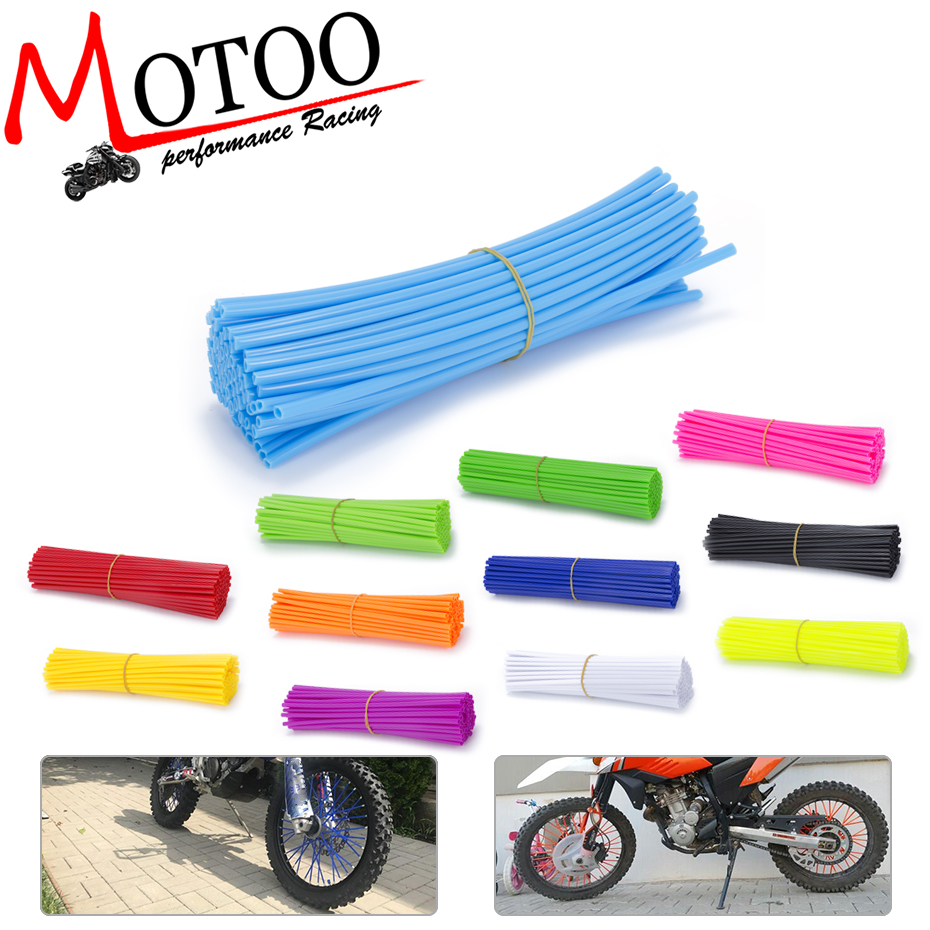 Motoo - 72piece Motorcycle Dirt Bike Enduro Off Road Rim Wheel spoke skins For honda crf 450 CR CRF XR XL 85 125 250 500 motocross dirt bike enduro off road wheel rim spoke shrouds skins covers for yamaha yzf r6 2005 2006 2007 2008 2009 2010 2011 20