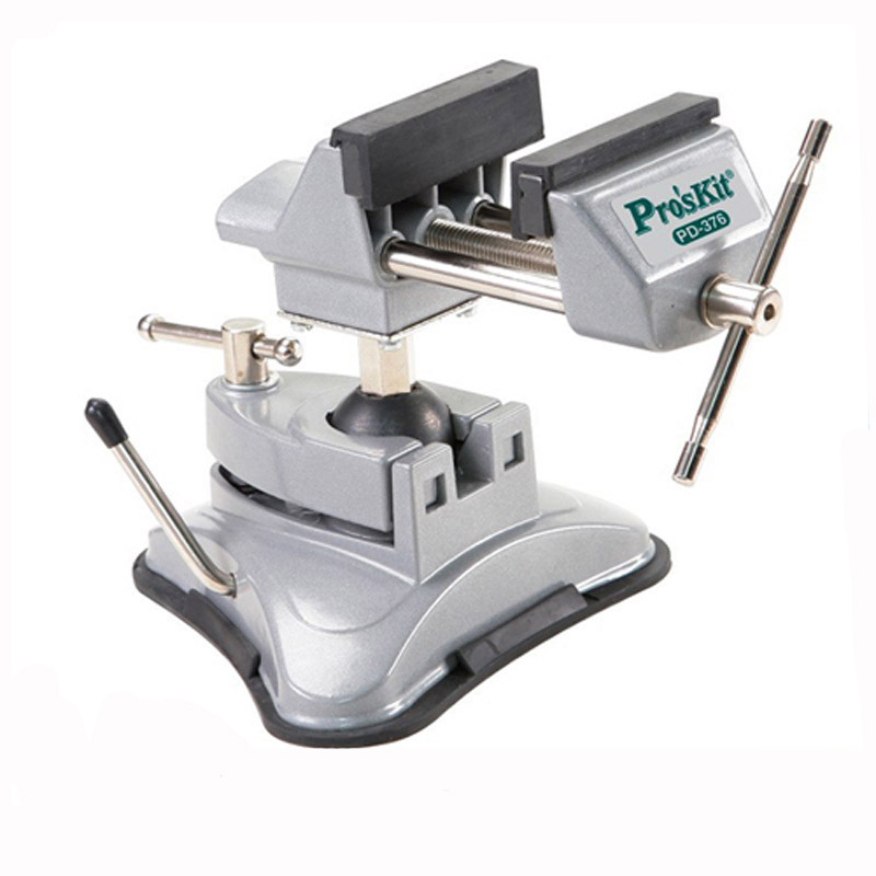 ProsKit PD-376 Multi-Angle Swivel-Actions Vacu-Vise Bench Aluminum Vice DHL free shipping