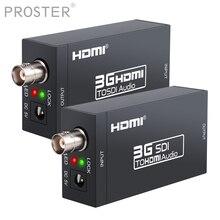 Proster convertidor HDMI a SDI + adaptador SDI a HDMI, convertidor de Audio HDTV HD SDI/3G SDI, adaptador 1080P, convertidor DAC