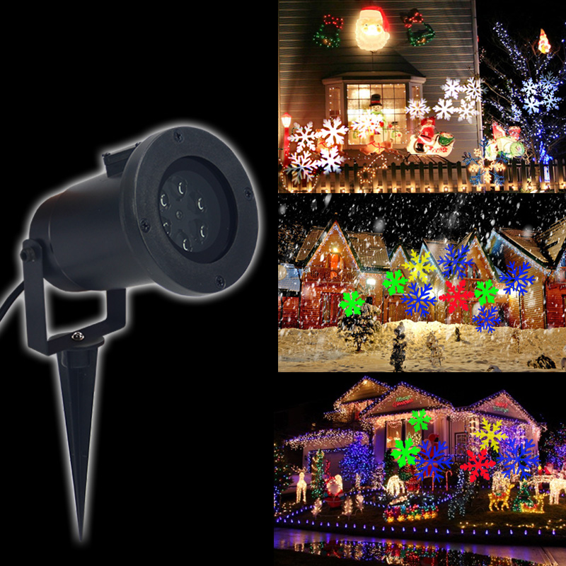 Outdoor Holiday Light LED Snowflake Effect Lights  Christmas Laser Snowflake Projector lamp Garden Decoration Landscape Light mipow btl300 creative led light bluetooth aromatherapy flameless candle voice control lamp holiday party decoration gift
