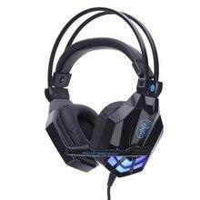 Profissional Stereo Baixo Fone De Ouvido fone de Ouvido de Jogos de Computador Fone de Ouvido Com Microfone para PC Adequado para PS4 para XBOX UM