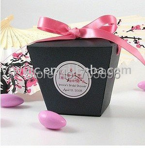 FREE SHIPPING--Black Chinese Take Out  Wedding Favor Boxes,Party Favor Box, Gift Box, Candy Boxes (JCN-39)