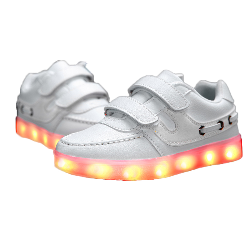 ФОТО TUTUYU Free Shiping Spring Autumn Kids Casual Fashion Luminous Lighted Colorful LED lights Children Shoes USB Charging