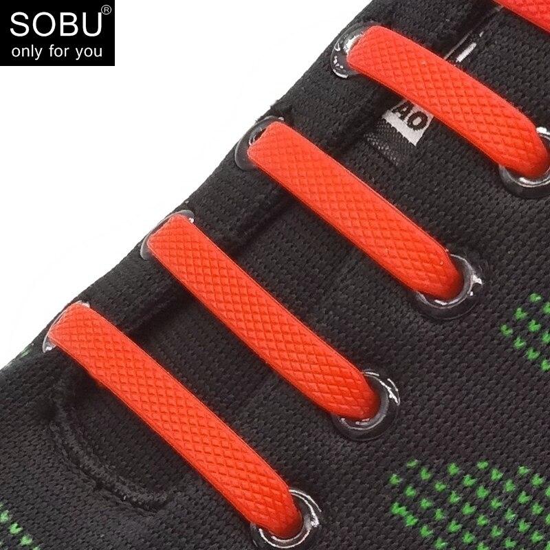 16Pcs/Set Hammer Shaped Running No Tie Shoelaces Fashion Unisex Women Men Athletic Elastic Silicone Shoe Lace N030
