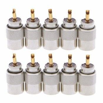 10 шт. УВЧ PL-259 Штекерный припой RF разъем Вилки для RG8X коаксиальный кабель