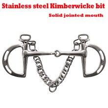 Нержавеющая сталь Kimberwicke бит. Твердый шарнирный рот. Конский бит, конский продукт(BT0902