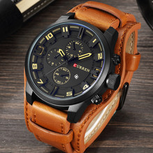Relogio Masculino Mens Watches Top Brand Luxury Leather Strap Waterproof